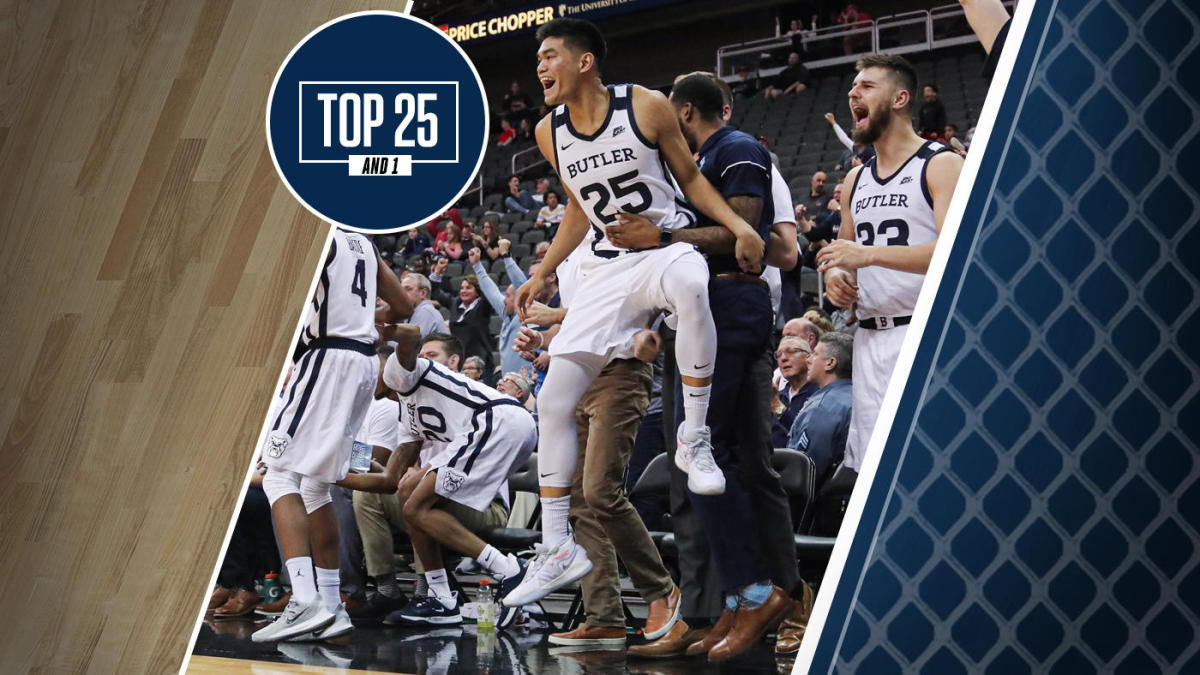 College Basketball Rankings Butler No 12 In Top 25 And 1