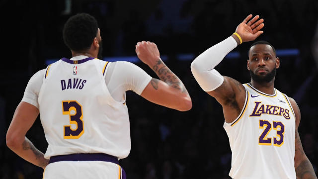 Lakers Vs Pistons Lebron James Anthony Davis Bring