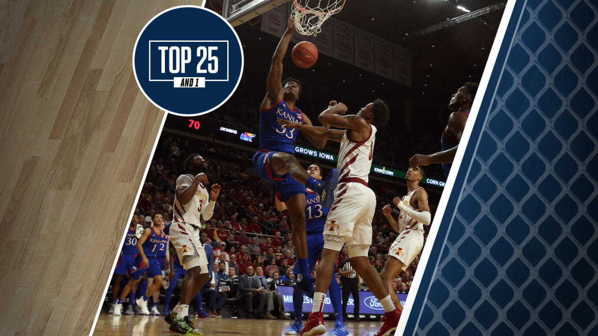College Basketball Rankings Kansas No 2 In Top 25 And 1