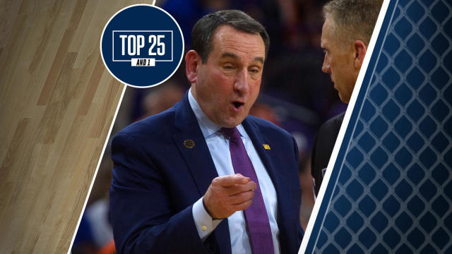 College Basketball Rankings Duke Falls In Top 25 And 1