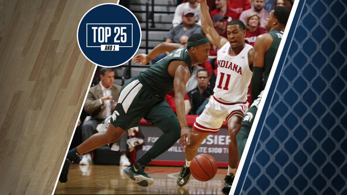 College basketball rankings: Michigan State falls to No. 13 in Top 25 And 1 after loss at Indiana