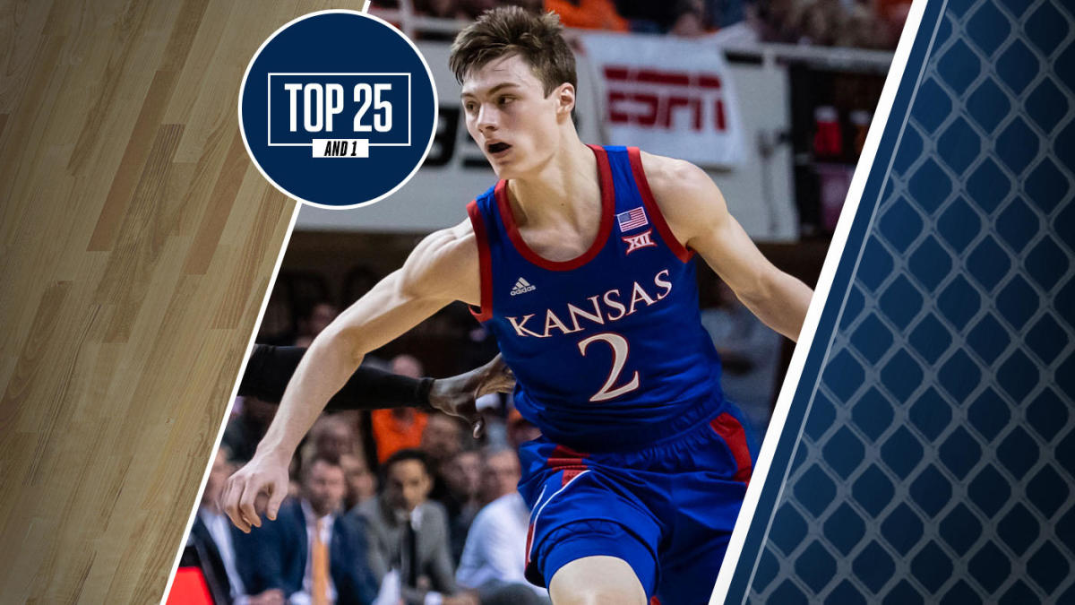 College basketball rankings: Christian Braun leads Kansas, No. 4 in Top 25 And 1, to win at Oklahoma State