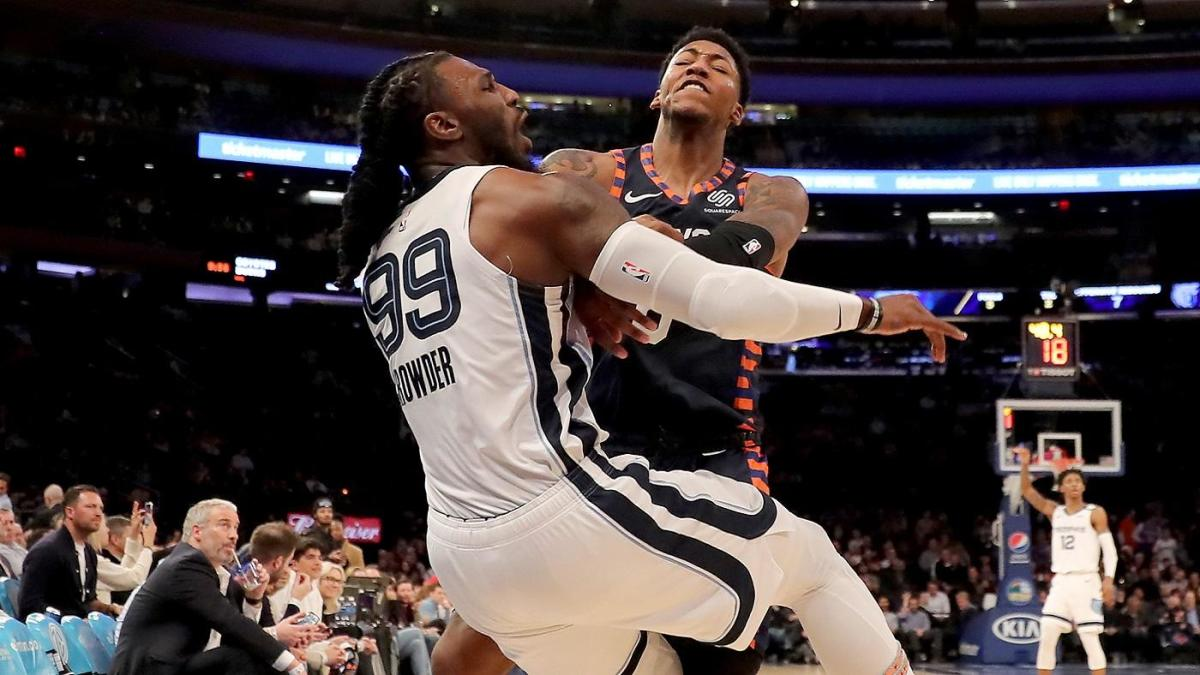 Elfrid Payton Jaren Jackson Jr Suspended Marcus Morris Jae Crowder Fined After Grizzlies Knicks Scuffle Cbssports Com