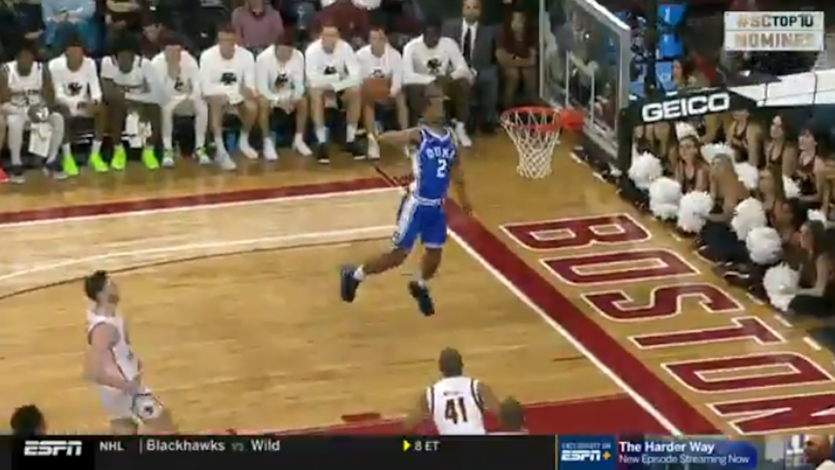 Duke vs. Boston College highlights: Blue Devils guard Cassius Stanley throws down insane one-handed alley-oop