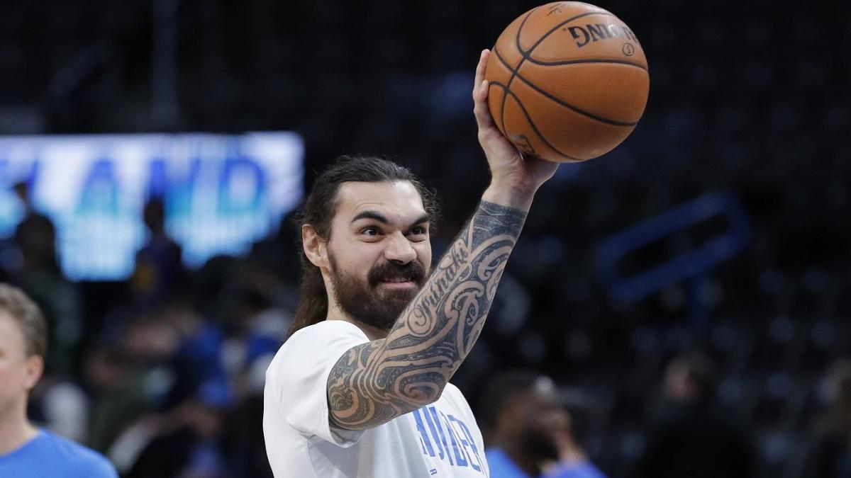 Thunder's Steven Adams hits casual one-handed, half-court heave after taking advice from Chris Paul