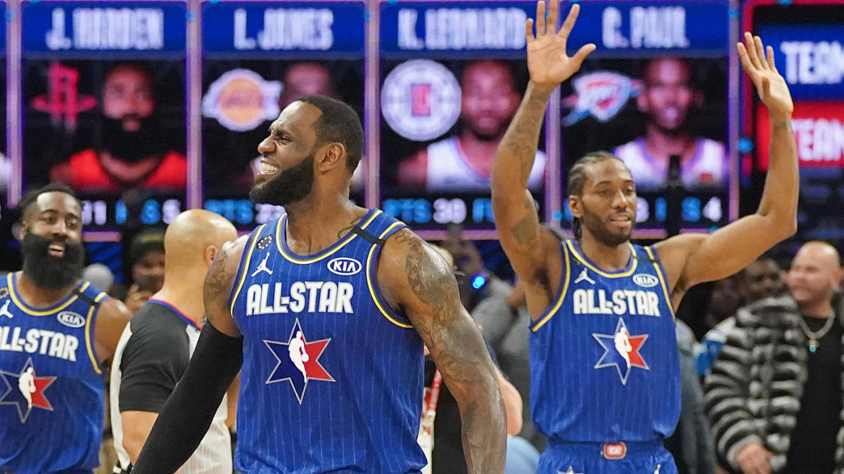 Team LeBron Kanten-Team Giannis In der NBA All-Star Game