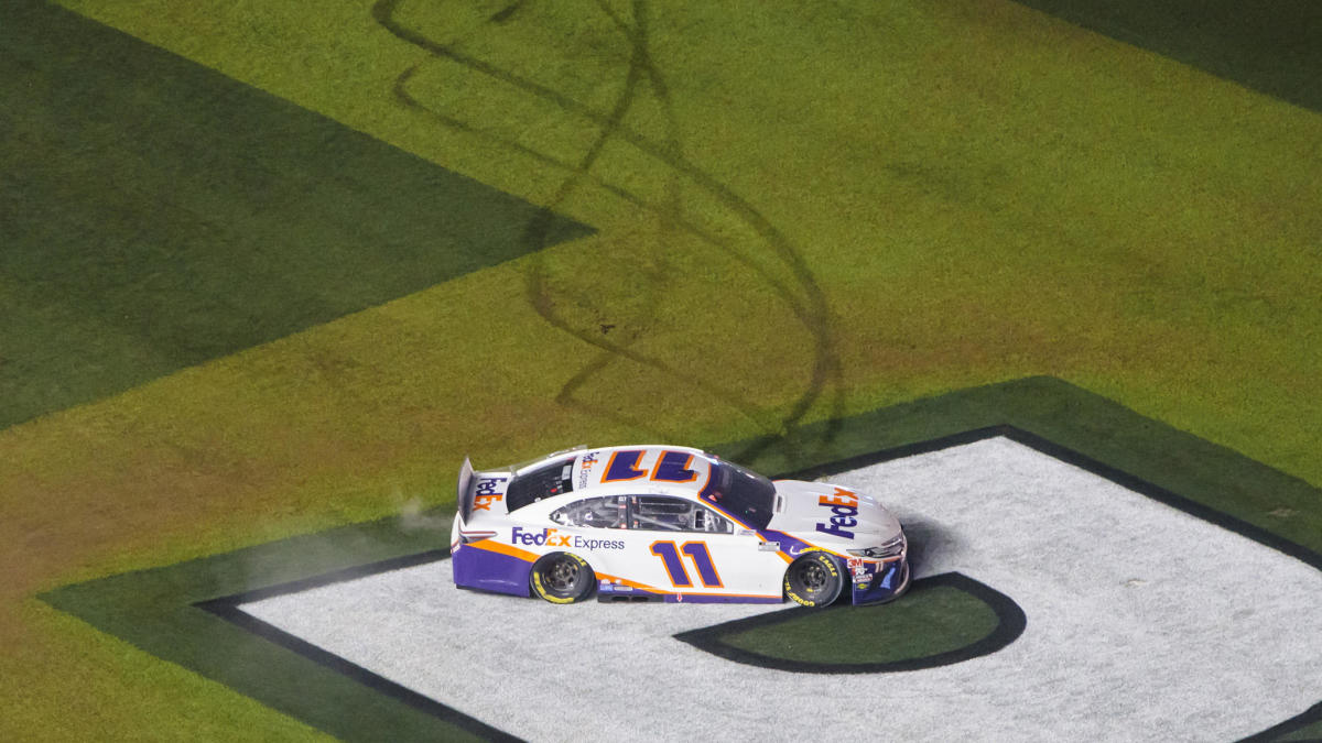 Daytona 500: Dale Earnhardt Jr. defends Denny Hamlin's celebration that followed Ryan Newman's crash