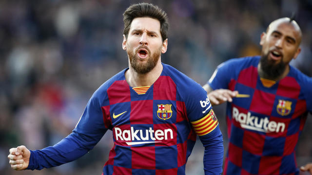 Lionel Messi Scores Four Goals For Barcelona Including One Of The Filthiest Goals You Ll See This Season Cbssports Com