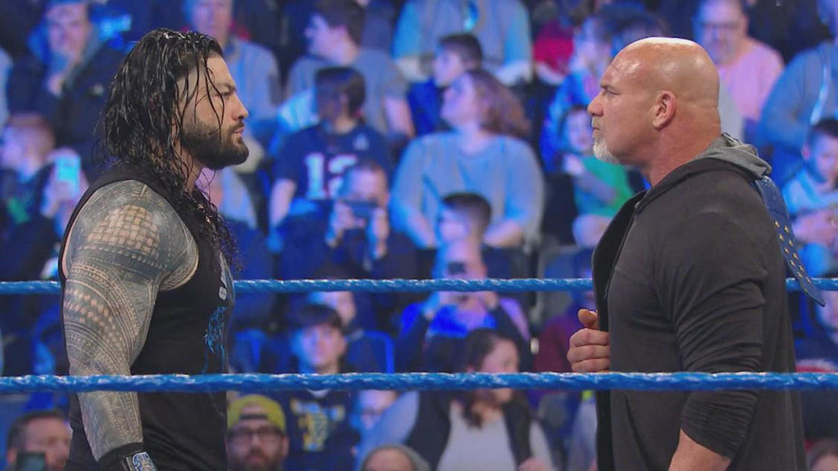 WWE SmackDown results, recap, grades: Goldberg vs. Roman Reigns, John Cena vs. The Fiend set for WrestleMania #Sportskeedi