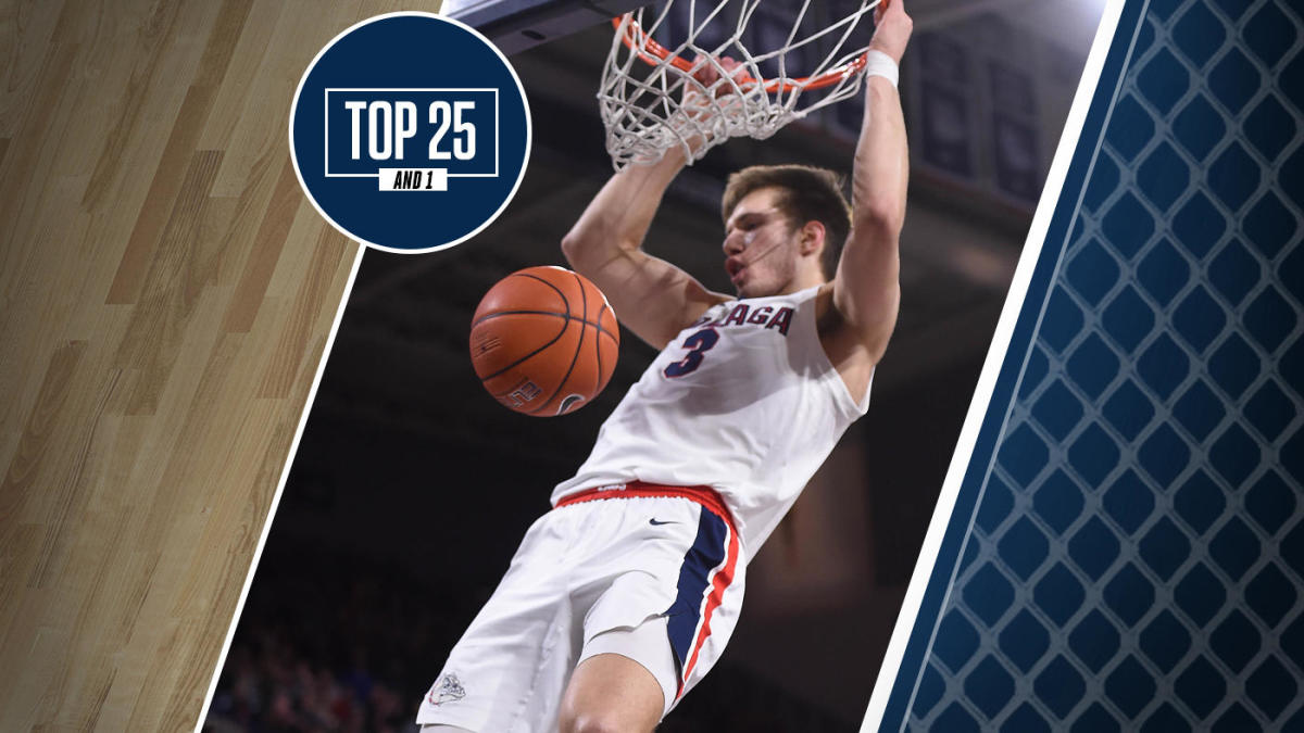 College basketball rankings: Gonzaga hangs on to No. 1 in Top 25 And 1 after loss of Filip Petrusev