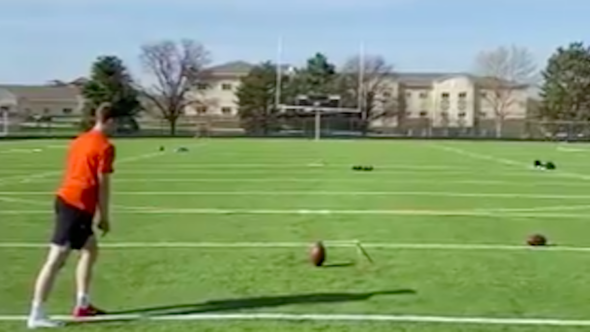 Chiefs kicker drills 77-yard field goal during lonely offseason workout and he has video to prove it