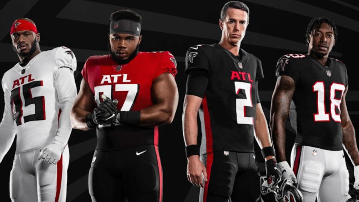 falcons join nfc south rival buccaneers in unveiling new nfl uniforms for 2020 cbssports com falcons join nfc south rival buccaneers in unveiling new nfl uniforms for 2020 cbssports com