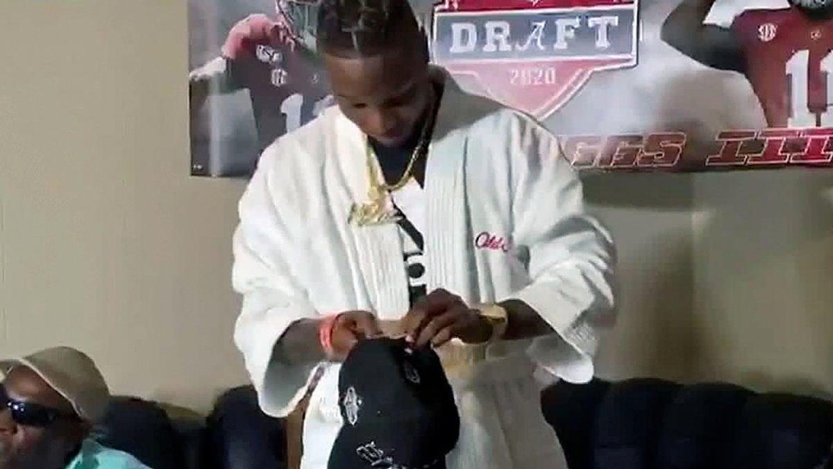 2020 NFL Draft: Henry Ruggs III dons bathrobe on draft night as ...