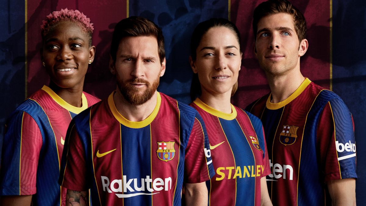 Fc Barcelona Unveils Home Kit For 2020 21 Season With 1920s Inspiration Cbssports Com