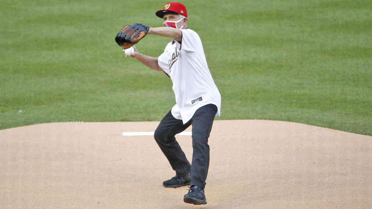 Dr. Anthony Fauci throws first pitch ahead of Nationals vs. Yankees on MLB Opening Day thumbnail