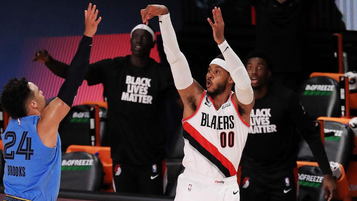 Carmelo Anthony embraces Olympic form, saves Trail Blazers ...