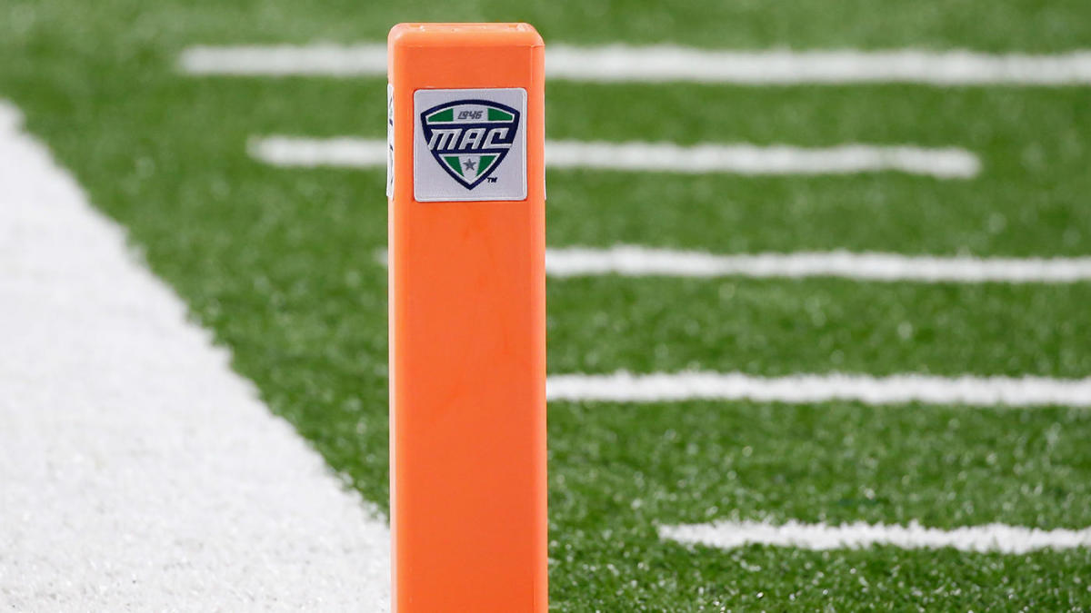 mac football pylon logo getty
