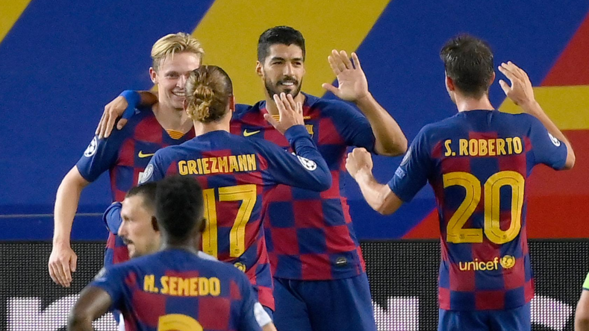 Barcelona Vs Napoli Score Messi Dazzles As Barca Advance To Champions League Quarterfinals Cbssports Com