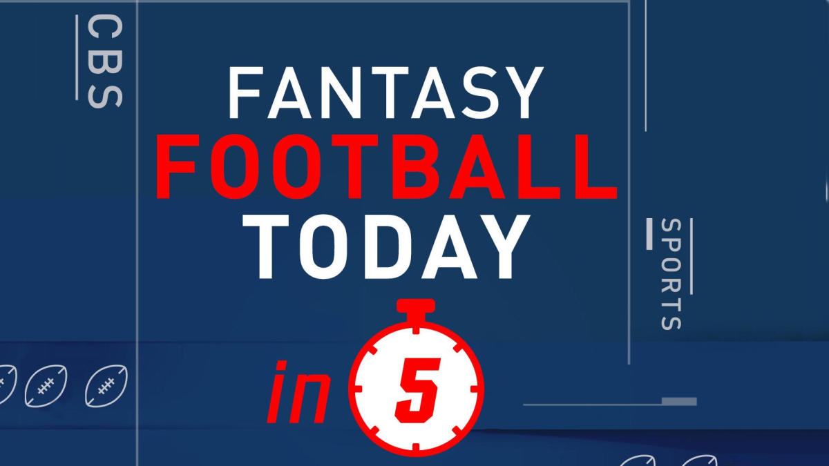Introducing the Fantasy Football Today in 5 podcast, the fastest way to  keep up with the NFL - CBSSports.com