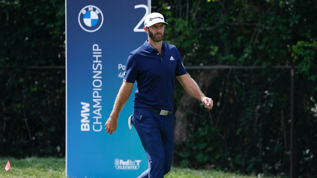 Watch Dustin Johnson Makes Absurd Winding 43 Foot Putt To Force Playoff At 2020 Bmw Championship Cbssports Com