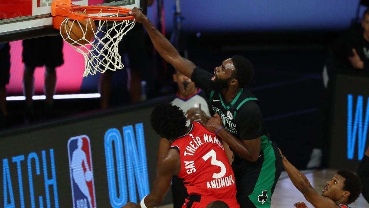 Celtics Vs Raptors Score Takeaways Boston Dominates Game 5 To Take A 3 2 Series Lead Over Toronto Cbssports Com