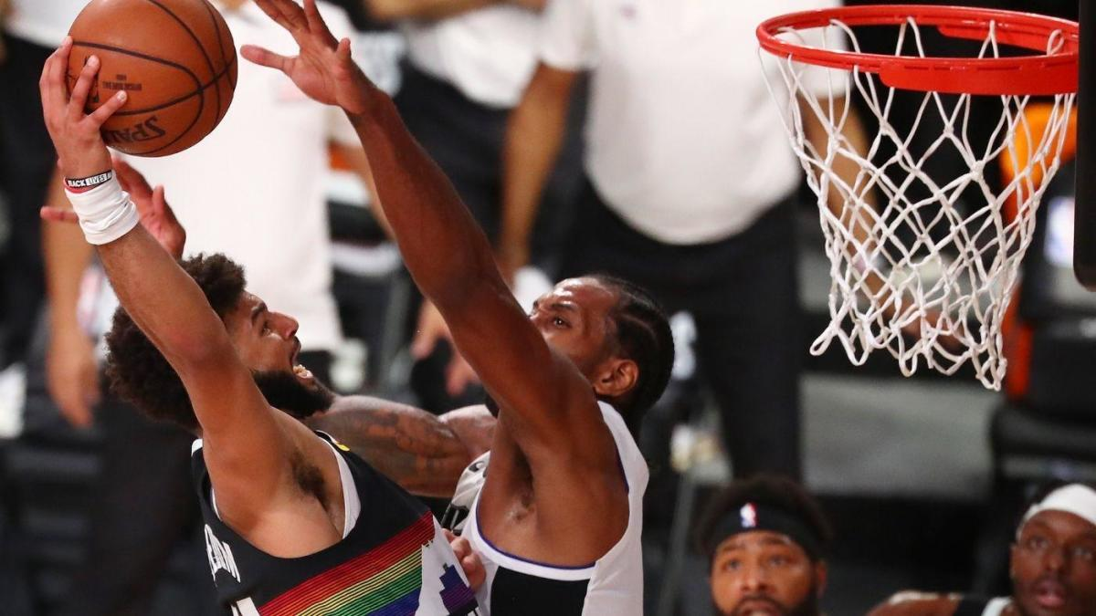 WATCH: Kawhi Leonard's middle-finger block on Jamal Murray seals Clippers' Game 3 win vs. Nuggets – CBS Sports