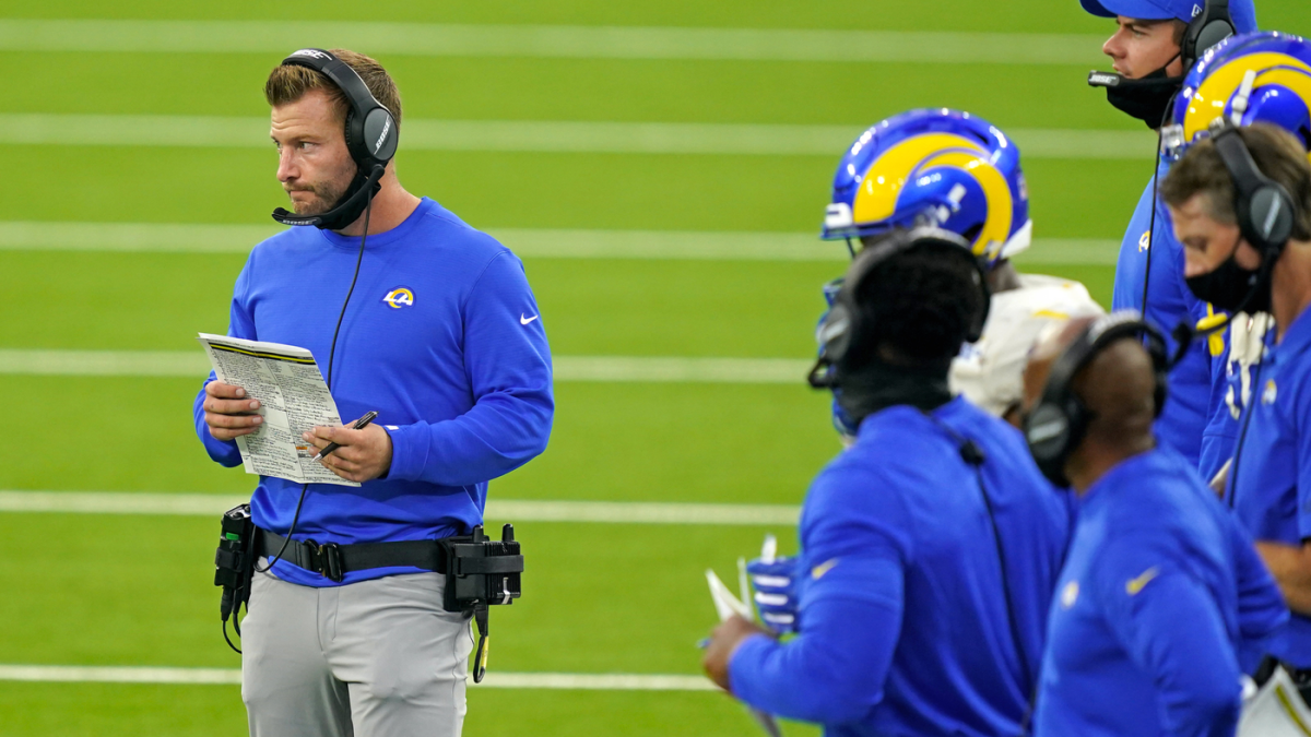 Rams' Sean McVay says he heard from the NFL after he did now not wear a conceal all the device thru Week 1 snatch thumbnail