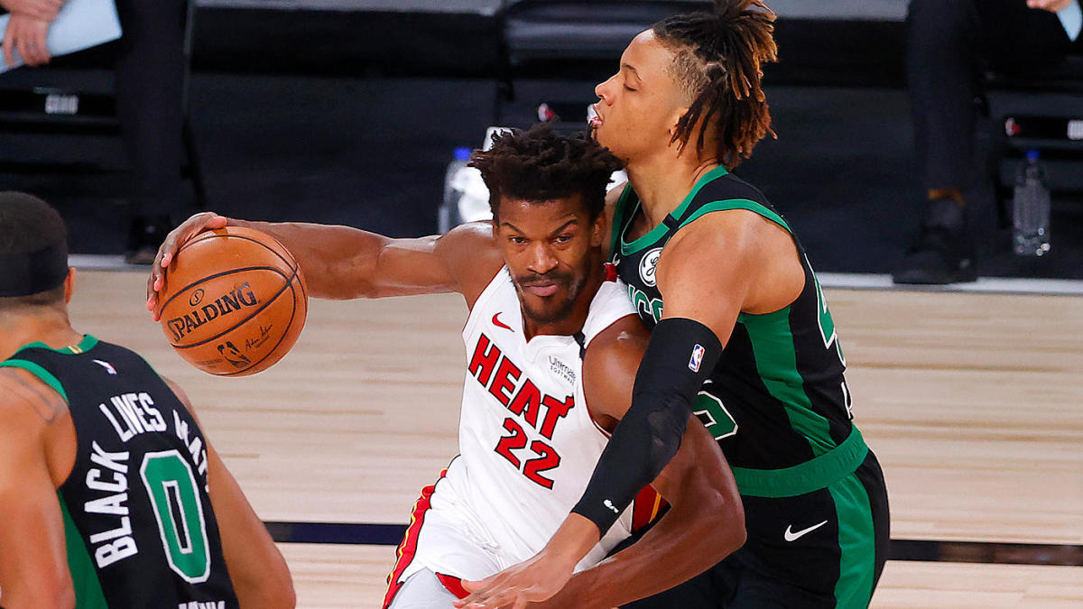 Celtics Vs Heat Score Takeaways Miami Overcomes 17 Point Deficit Moves Two Wins Away From Nba Finals Cbssports Com