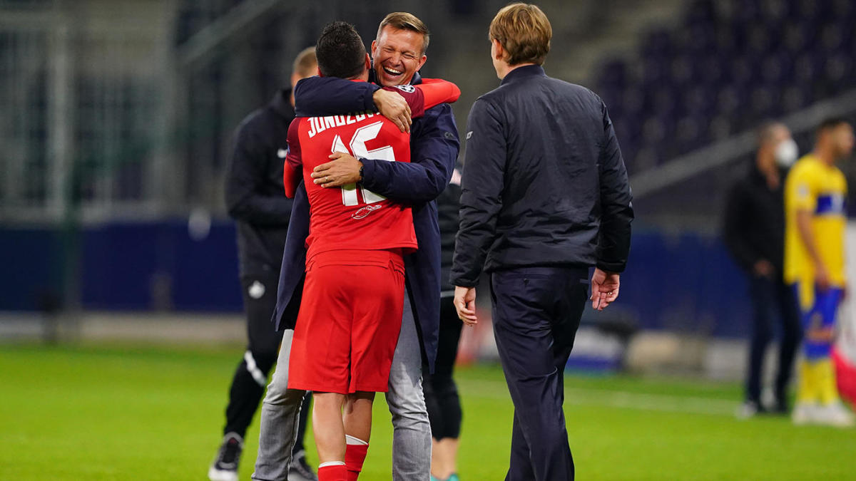uefa champions league play off scores results american jesse marsch leads salzburg to group stage cbssports com https www cbssports com soccer news uefa champions league play off scores results american jesse marsch leads salzburg to group stage