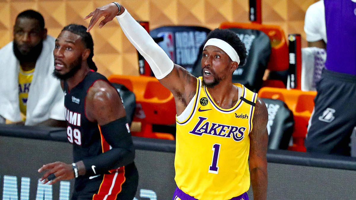 Lakers Burn Heat With 3 Pointers In Game 1 Of Nba Finals But They Were Mostly Shots Miami Wanted Them To Take Cbssports Com