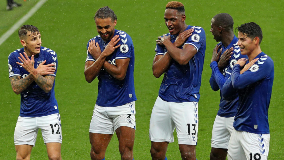 Led By James Rodriguez And Calvert Lewin New Look Everton Dominating Premier League Thanks To New Mentality Cbssports Com