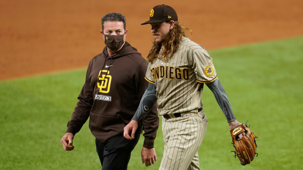 Mike Clevinger injury: Padres righty off NLDS roster, ineligible for NLCS  after exiting Game 1 start early - CBSSports.com