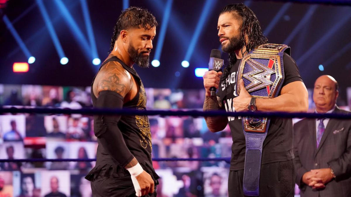 Big Dog to Tribal Chief: Roman Reigns talks WWE character transition,  ongoing feud with cousin Jey Uso - CBSSports.com