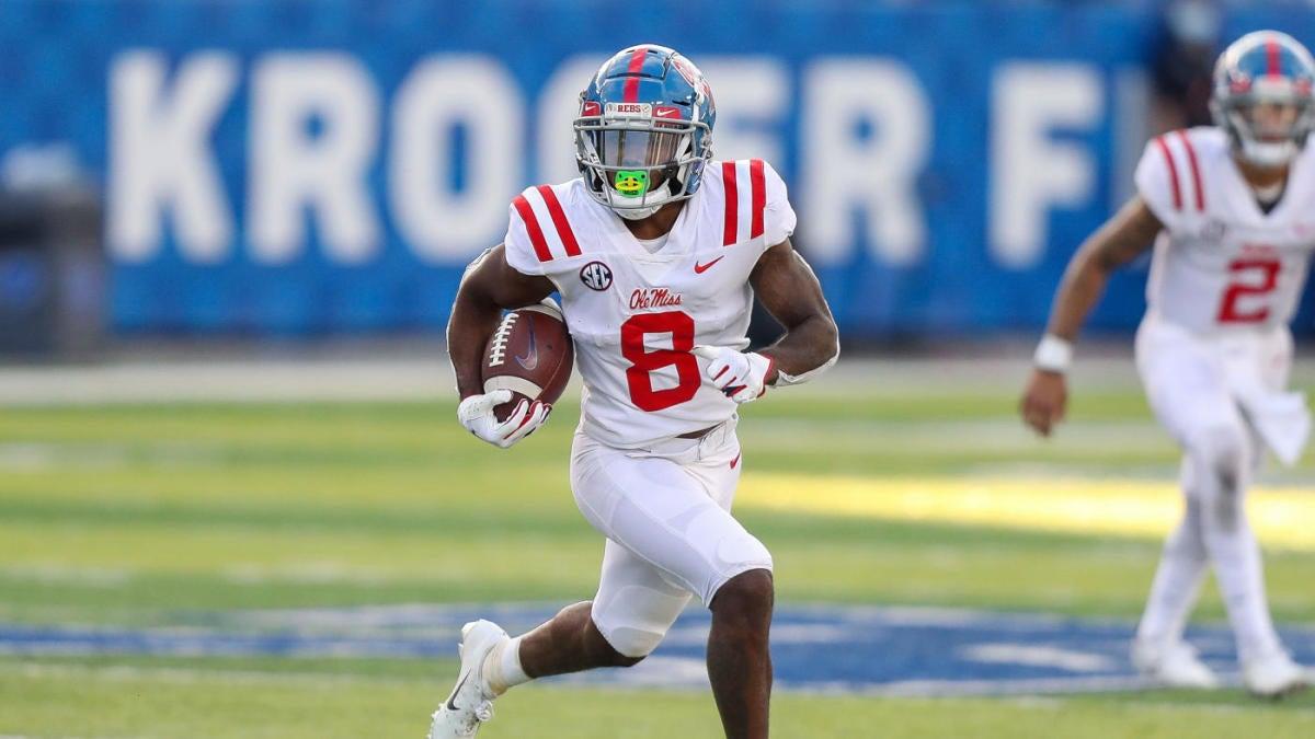 2021 NFL Draft Wide Receiver Stock Watch: Elijah Moore eclipses 1,000 yard  season, North Carolina duo explodes - CBSSports.com