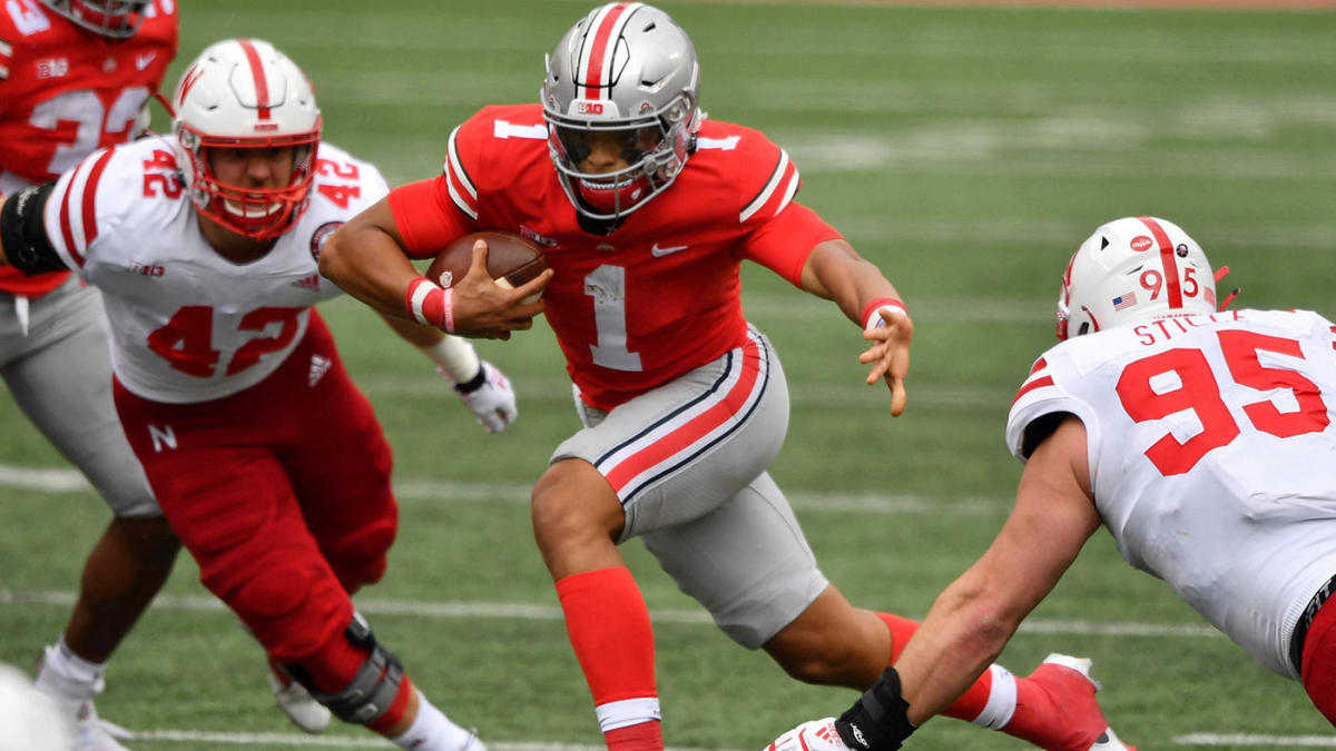 Ohio State Vs Nebraska Score Takeaways No 5 Buckeyes Open Season By Dominating Cornhuskers In Second Half Cbssports Com
