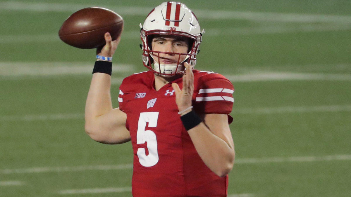 Wisconsin QB Graham Mertz tests positive COVID-19 a second time after breakout start, will be out for 21 days - CBSSports.com