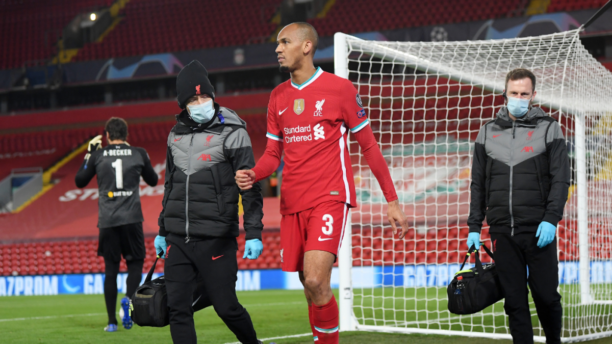 Liverpool injuries: Reds down to one center-back as Fabinho hurts hamstring in Champions League win
