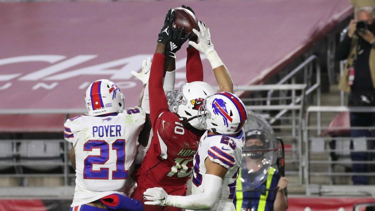 Cardinals Vs Bills Score Deandre Hopkins Delivers Unbelievable Game Winning Catch From Kyler Murray Cbssports Com