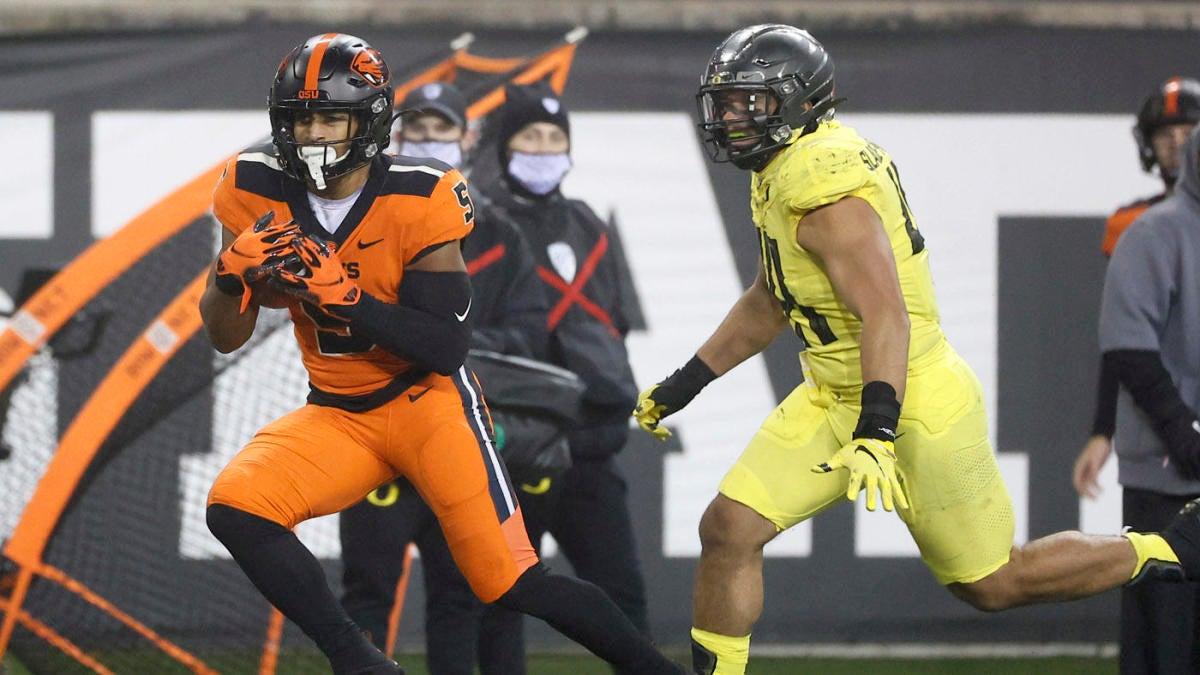 College football scores NCAA top 25 rankings Week 13: Oregon stumbles Iowa holds off Nebraska – CBSSports.com