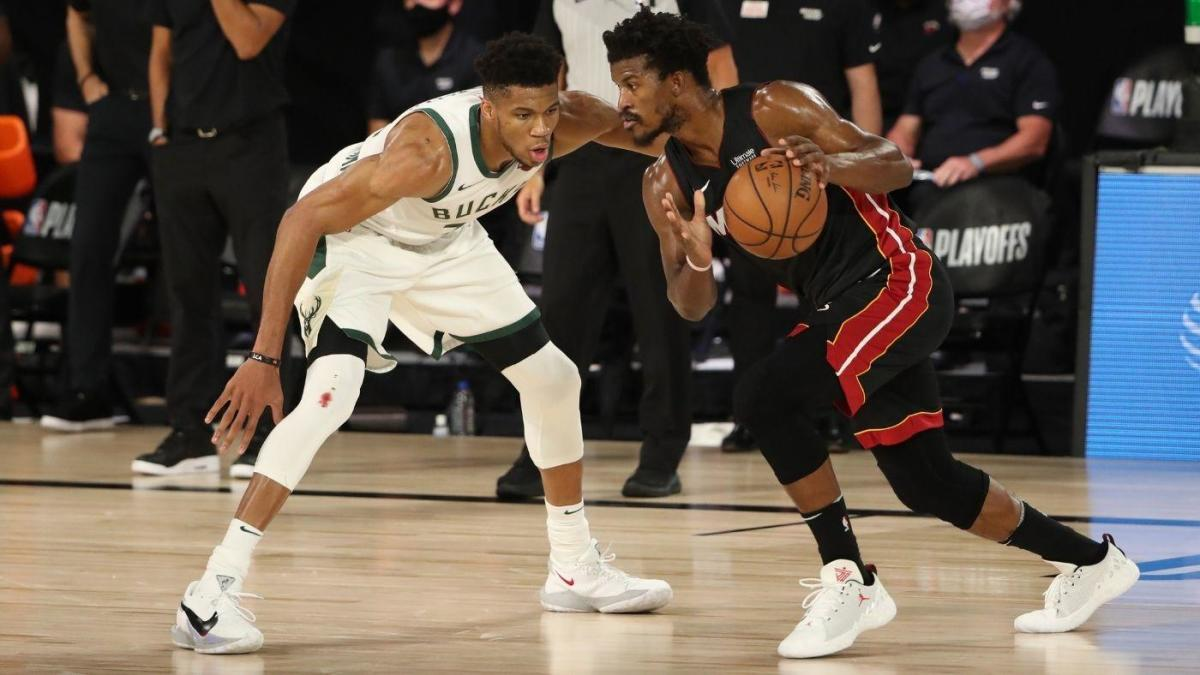 Jimmy Butler likes Giannis Antetokounmpo's decision to re-sign with Bucks: 'I want to go up against the best' - CBSSports.com