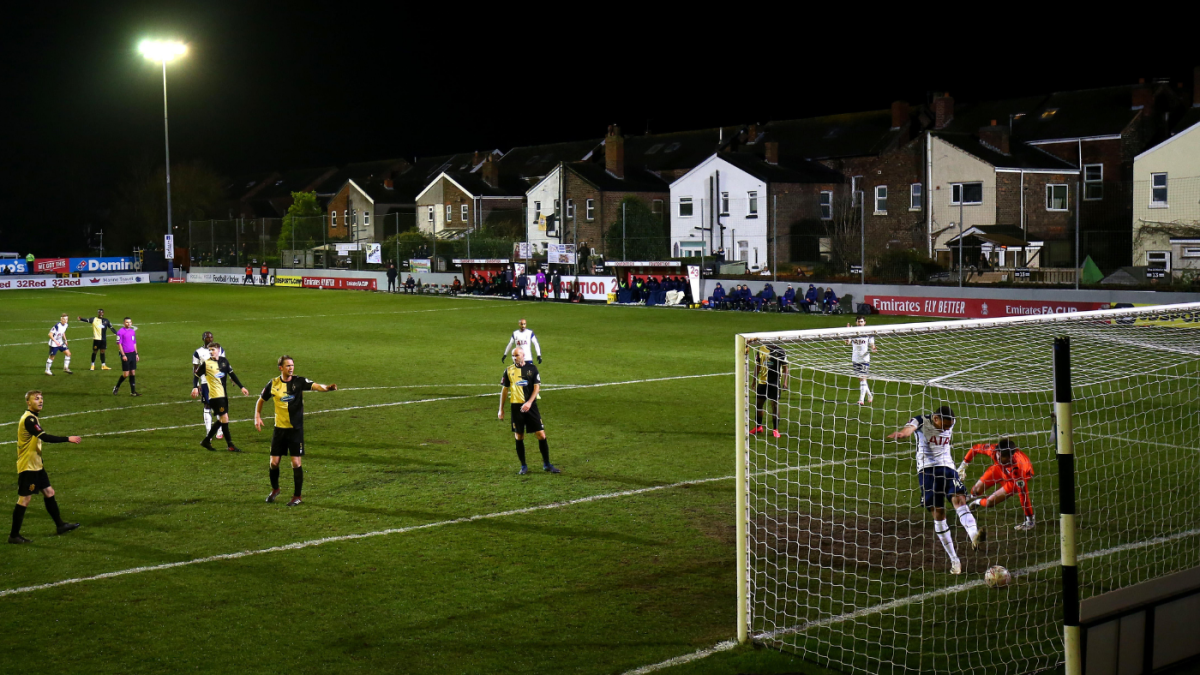 FA Cup scores, results, schedule: Spurs eliminate eighth-tier Marine; Chelsea, Man City qualify