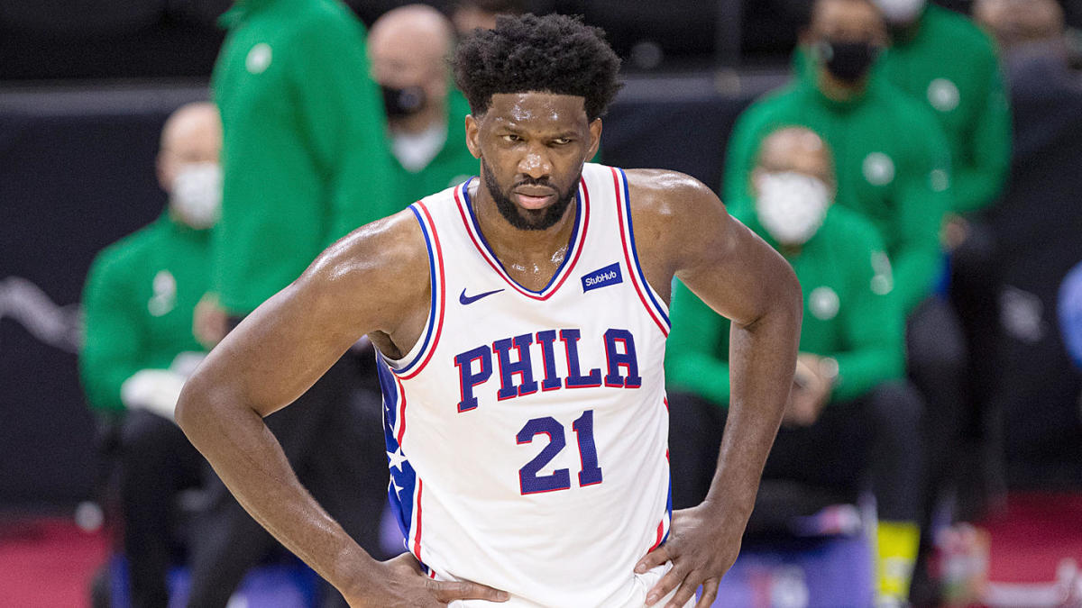 Joel Embiid's left knee injury leaves top of Eastern Conference playoff picture, MVP race both wide open - CBS Sports