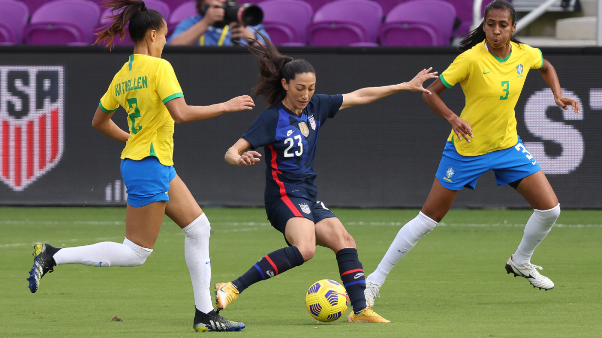 USWNT vs. Brazil score, highlights: Christen Press, Crystal Dunn lead USA to SheBelieves Cup win