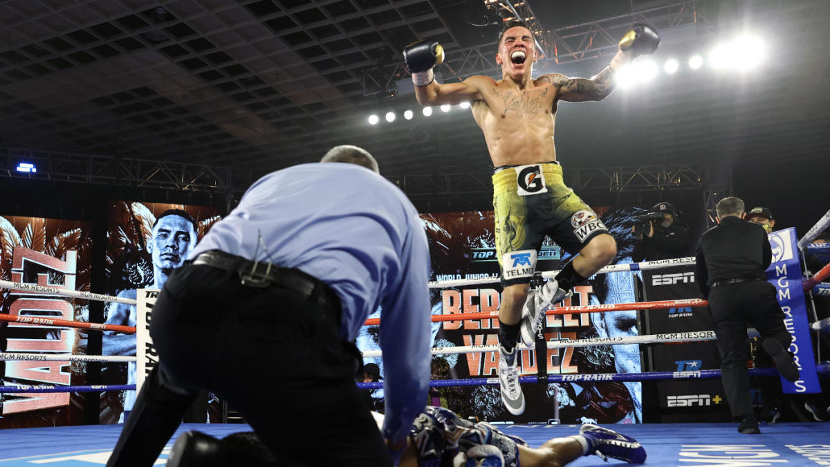Watch as Oscar Valdez scores scary Knockout of the Year contender over  Miguel Berchelt to claim title - CBSSports.com