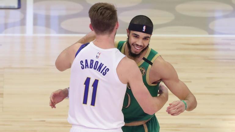 Domantas Sabonis Jayson Tatum Pacers Celtics