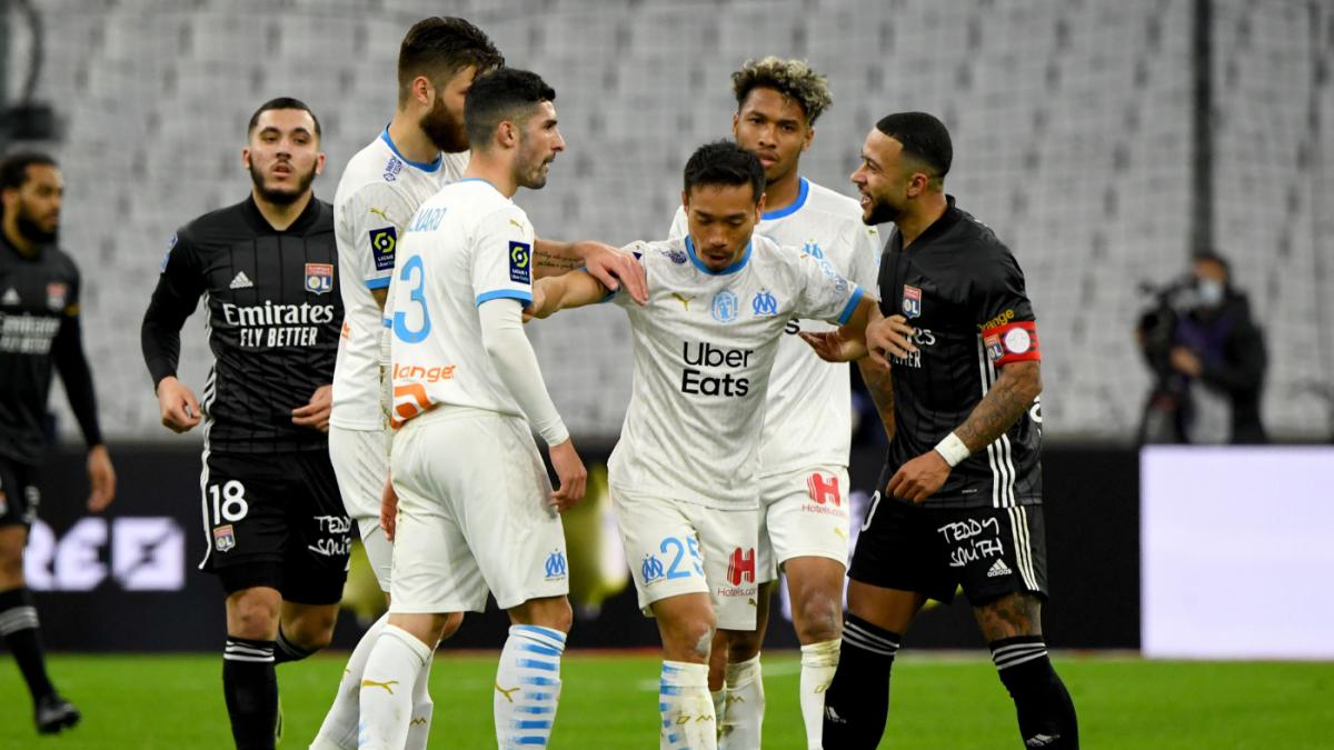 Marsella y Lyon firman tablas (1-1); los cuatro primeros en sólo cuatro puntos
