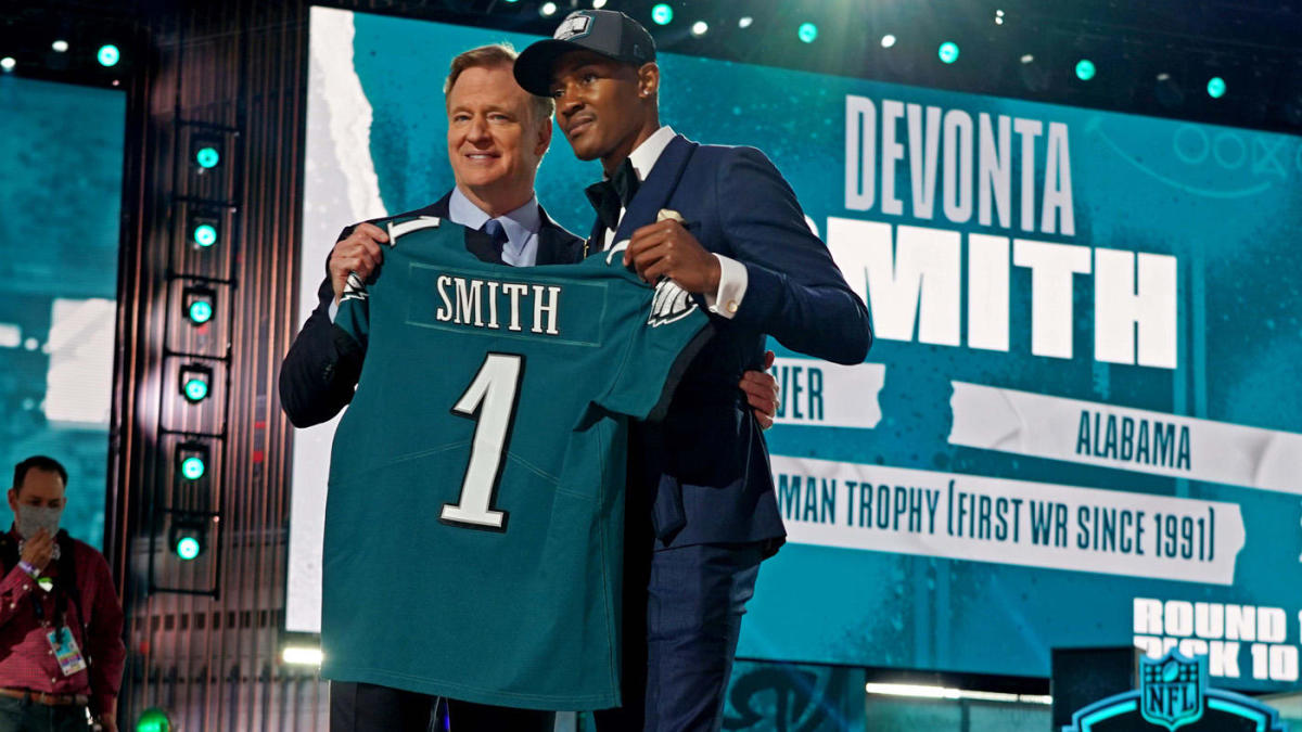 Giants reportedly livid Eagles traded up ahead of them to select DeVonta Smith at 2021 NFL Draft - CBS Sports
