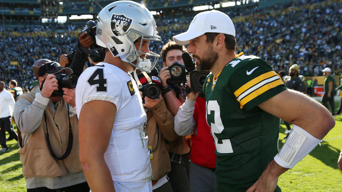 Aaron Rodgers is reportedly intrigued by the Raiders as a potential landing spot