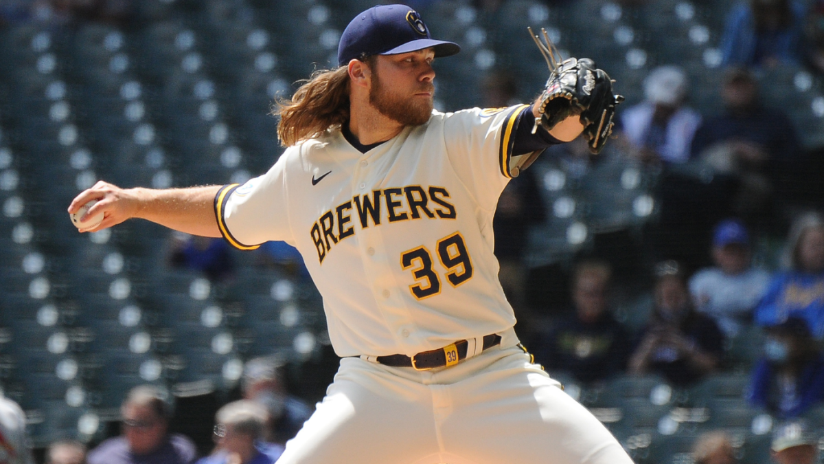Brewers' Corbin Burnes sets MLB record for most strikeouts without a walk to start a season