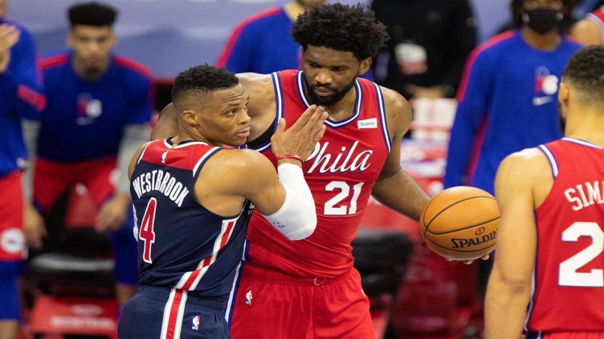 76ers-Wizards playoff preview: Joel Embiid, Russell Westbrook to continue  rivalry in first-round series - CBSSports.com